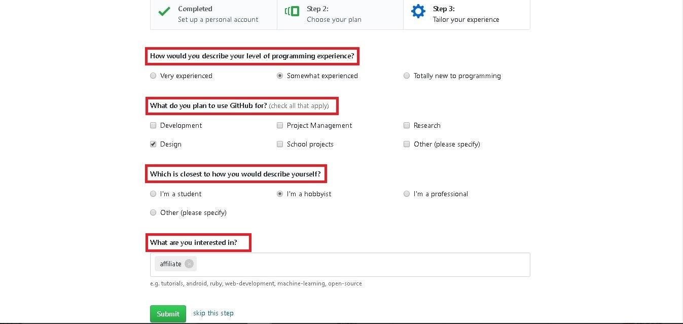 GitHubのアンケート