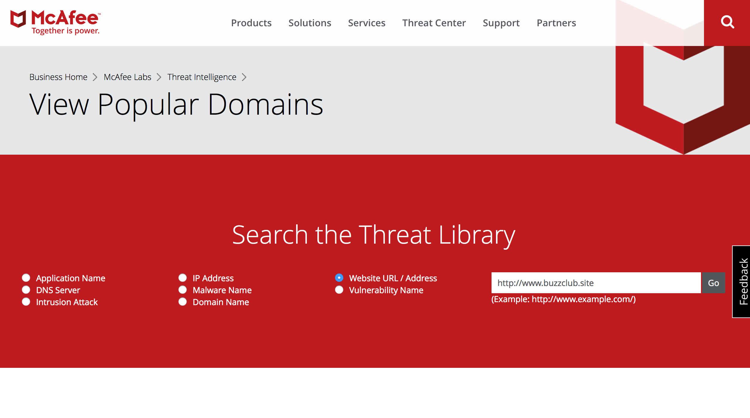Search the Threat Library