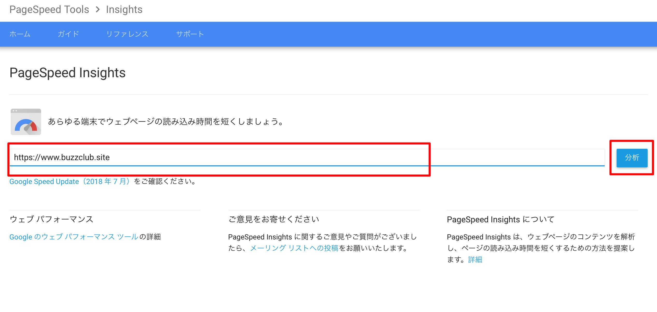 PageSeed Insight分析