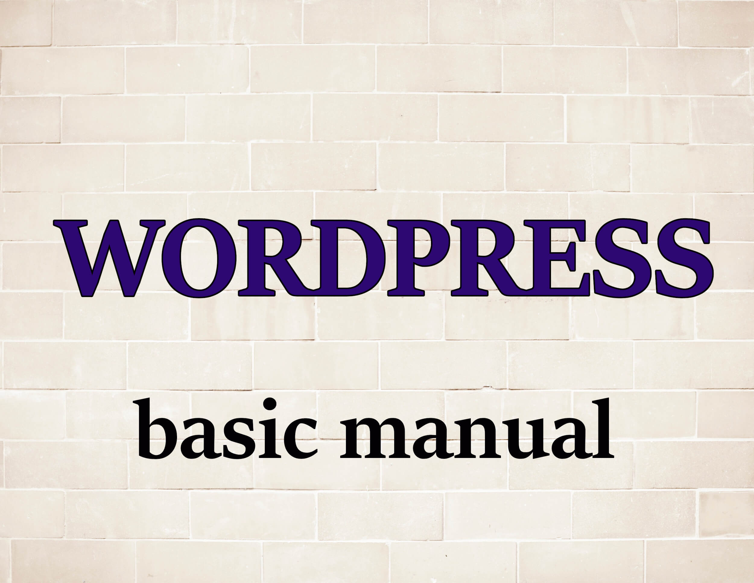 wordpress-basic-manual